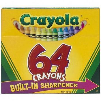 Classic Crayola Crayons, 64 Count
