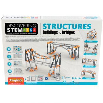 Elenco Electronics, Engino STEM Structures Buildings and Bridges Kit, Grades 3 and up