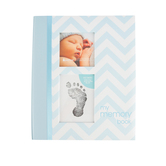 Pearhead, My Memory Book for Baby Boy, Blue Chevron, 9 x 10 3/4 inches
