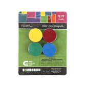 Tree House Studio, Round Vinyl Magnets, Assorted Colors, 1 inch, 16 Count