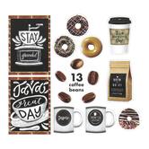 Schoolgirl Style, Industrial Cafe, Espresso Yourself Mini Bulletin Board Set, 52 Pieces