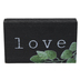 Love With Greenery Wood Tabletop Décor, Black, Green, White, 6 x 3 1/2 x 1 inches
