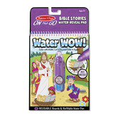 Melissa & Doug, Water WOW! Bible Stories Water Reveal Pad, Ages 3 Years and Older, 2 Pieces