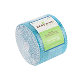 Renewing Minds, Corrugated Pre-Scalloped Decorative Border Trim, 2.25-inch x 25 Feet, Turquoise Glitter