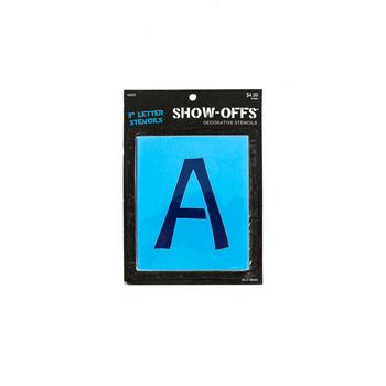 Show-Offs, Upper Case Student Alphabet Stencils, 3 inches