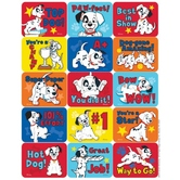 Eureka, 101 Dalmatians Motivational Stickers, 1.38 x 1 Inches, Multi-Colored, Pack of 120