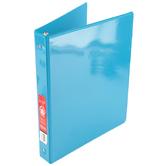 Bazic Products, Dual Pocket View Binder, Cyan, 9 3/4 x 1 x 11 1/4 inches