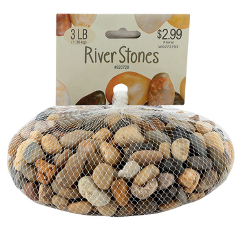 Mixed Small River Stones Collection, Assortment, Grades 3 and up