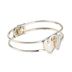 Modern Grace, 1 John 4:16 Double Heart with Cross Cuff Bracelet, Silver and Gold