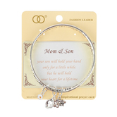 Oori Trading, Mom & Son, Twisted Charm Bangle, Silver Plated