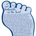 CTA, Inc., Matthew 28:20, Footprint-Shaped Bookmark with Poem, 2 1/4 x 4 5/8 inches