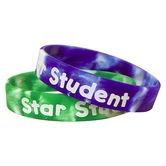 Teacher Created Resources, Fancy Star Student Swirl Wristbands, 7.25 Inches, Two-Tone, Pack of 10