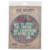 Natural Life, Be Nice Work Hard Be Brave Car Magnet, Multi-Colored, 5 3/4 Inches