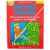 Didax, Times Table Challenge: Three-minute Tasks from Easy to Extreme, Reproducible, Grades 2-5