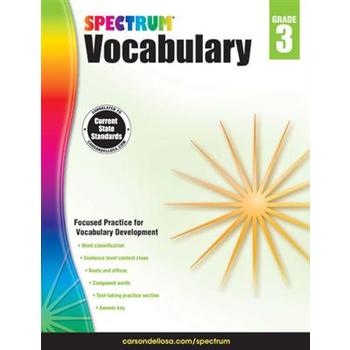 Carson-Dellosa, Spectrum Vocabulary Workbook Grade 3, Paperback, 160 Pages, Ages 8-9