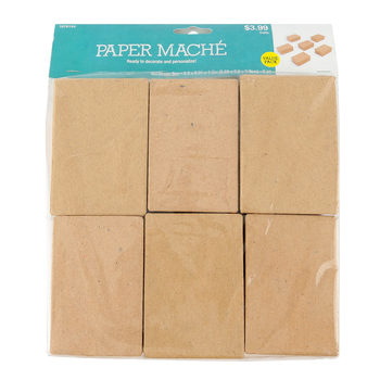Paper Mache Rectangle Box Set with Removable Lids, 3.50 x 2.50 x 1.50 Inches, Value Pack, Grades PreK-adult