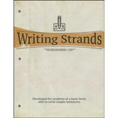 Master Books, Writing Strands Beginning 1, by Dave Marks, Paperback, Grades 2-3