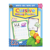 Teacher Created Resources, Write On/Write Off Cursive Writing Practice Book, 7 x 9 Inches, 32 Pages, Grades 2-3