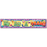 North Star, We Are A Team! Banner, 69 x 13 inches