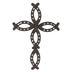 Horseshoe Cross Wall Decor, Metal, Brown, 14 1/2 x 10 x 1 1/4 inches