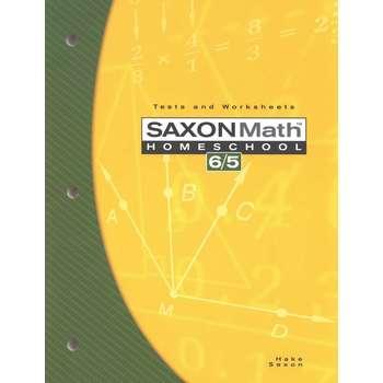 Saxon Math 6/5 Homeschool Tests & Worksheets