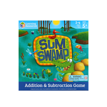 Learning Resources, Addition & Subtraction Sum Swamp Game, Ages 5 Years and Older, 2 to 4 Players