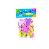 Silly Winks, Groovy Daisy Foam Stickers, 3/16 - 2 inches, Assorted Colors, 140 count