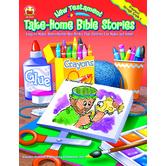 Carson-Dellosa, Take-Home Bible Stories: New Testament, Reproducible, 128 Pages, Grades PK-2