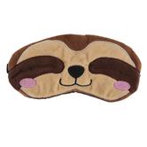 Brother Sister Design Studio, Sloth Sleep Mask, Brown, 3 1/4 x 10 1/2 inches
