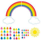 Schoolgirl Style, Hello Sunshine Giant Rainbow Bulletin Board Set, 47 Pieces