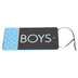 Isabella Collection, Boys Hall Pass, 3 x 6 Inches, Blue, Black, and White, 1 Each