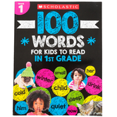 Scholastic, 100 Words for Kids to Read in First Grade Activity Book, 64 Pages, Grade 1