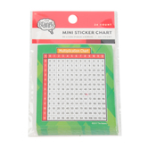 The Brainery, Multiplication Chart Mini Sticker Chart, 3 x 3.5 Inches, Multi-Colored, Pack of 24