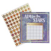 Carson-Dellosa, Galaxy Mini Incentive Charts with Stickers, Navy, Gold, Multi-Colored, 660 Pieces