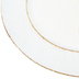 White and Brown Rustic Plate Charger, Plastic, 13 inches