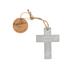 Roman, Inc., Cement Friends Are Angels In Disguise Cross Ornament, Cement, Grey, 4 x 3 x 1/4 inches