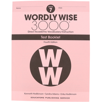Wordly Wise 3000 4th Edition Test Booklet 7, Paperback, Grade 7