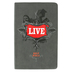 NLT Live Bible, Leatherlike, Charcoal Sketch