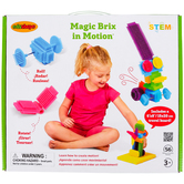Edushape, Magic Brix in Motion Block Set, Ages 3 and Older, 56 Pieces
