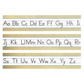 Renewing Minds, Burlap Alphabet Mini Bulletin Board Set, Manuscript, 5 Pieces