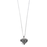 Dicksons, The Masters Touch Heart-Shaped Necklace, Silver-tone, 21 inch Chain