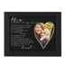 The Grandparent Gift Co., Mom Written On My Heart Frame, Black, 11 1/2 x 9 1/2 inches