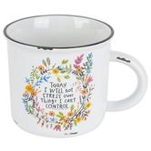 Natural Life, I Will Not Stress Camp Mug, Ceramic, White, 16 ounces