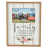 Green Tree Gallery, Family Love Photo Frame, MDF Wood, Brown and Cream, 6 x 4 inches
