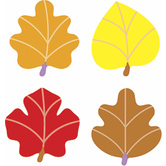TREND enterprises Inc., Autumn Leaves superShapes Stickers, Assorted Colors, Pack of 800