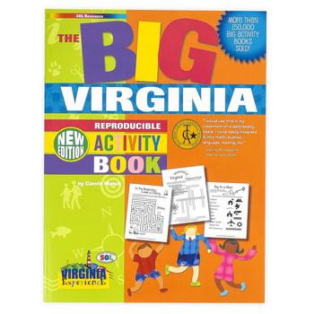 Gallopade, The BIG Virginia Reproducible Activity Book, Paperback, 96 Pages, Grades 2-8