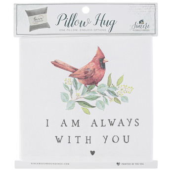 Sincere Surroundings, I Am Always With You Pillow Hug, White, 35 1/4 x 7 1/4 inches