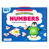 Scholastic, Numbers Learning Puzzles, 20 Puzzles, Grades PK-1