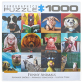 Eurographics, Funny Animals Puzzle, 1000 Pieces, 19 1/4 x 26 1/2 Inches