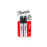 Sharpie, Permanent Markers, Broad Chisel Tip, Black, Pack of 2
